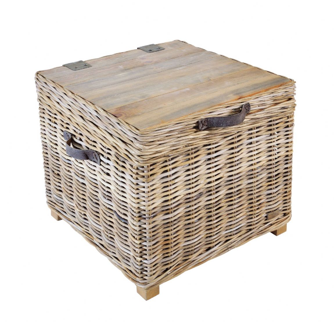 Casares Rattan Storage Side Table - Special Order